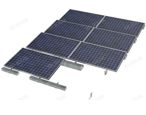 3kw home pv solar panel system ballast roof mount