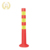 Highly visible soft elastic PU flexible delineator warning post