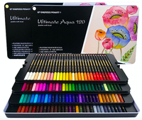 Ready to Ship Wholesale High Quality Low Price Professional 120 Watercolor Color Pencil Set in Tin Box