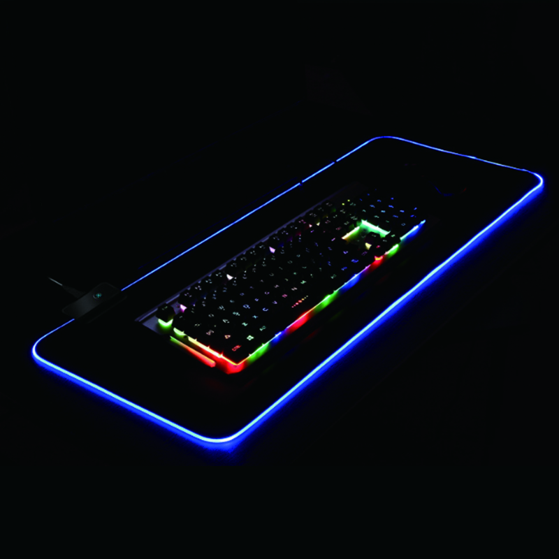 China Supplier Desk table Carpet RGB Gaming Mice Mat LED Backlit Gaming Mouse Pad, All colors is available
