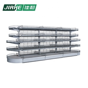 Double Sided Wire Shelf Supermarket Shelving System