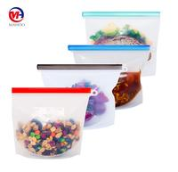 BPA Free Reusable Silicone Food Storage Bag Size Eco Friendly Ziplock Plastic Containers Cooking Silicone Bag Sets