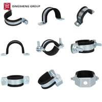industrial hige pressure aluminum stainless steel heavy duty channel pipe clamp types