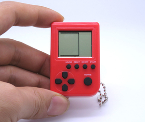 Mini Brick Game console handheld game with keychain