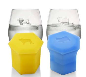 High Quality 3D Animals BPA Free Silicone Clear Ice Ball Maker Mold