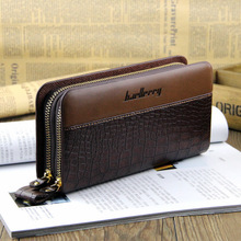 SW020 두 zip 여행 긴 clutch wallet pu leather 대 한 men card holder