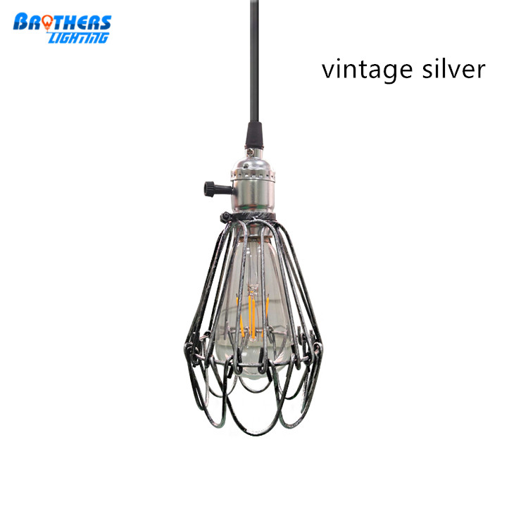 Hot Industrial Iron Wire Bulb Guards Clamp Metal Lamp Cage Trouble Light Parts Vintage Wire Lamp Cage Diy Hanging Bulb Cover 100% Guarantee Lights & Lighting
