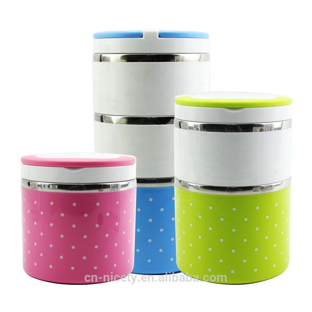 1000ml school use plastic stainless steel insulated food container for kids