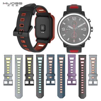 Watch bands For Hua mi Amazfit bip strap silicone  20mm 22mm  for samsung gear