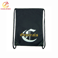 Eco-Friendly Polyester Custom Gym Drawstring Backpack Sports Draw String Bag