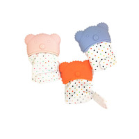 Silicone Material and Soft Toy Baby Teething Mittens For Babies Teether Glove