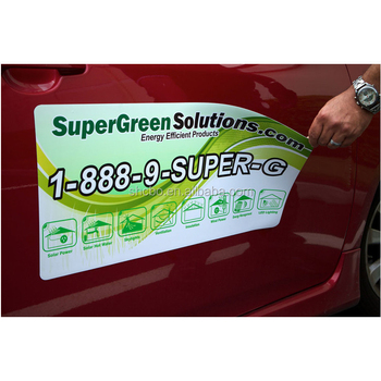 Custom Waterproof Advertising Pvc Car Magnet