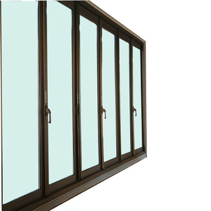 4 Panel Sliding Glass Shower Door Wooden Window Film Door Frame Design
