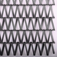 304 316 316L stainless steel heat-resistant curtain wall security screen flat spiral decorative wire mesh