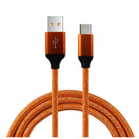factory wholesale round metal nylon braided usb c cable mobile phone fast charging type c data cable