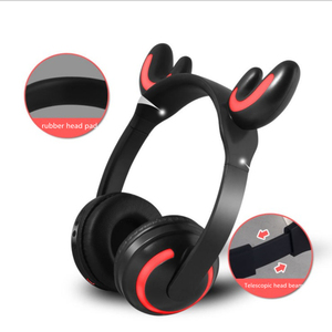 New Smart Stereo V4.2 Blue tooth Headset Glowing Cat Ears with Wheat Wireless Earphones Rabbit Ear Deer Ear Sports Headphones