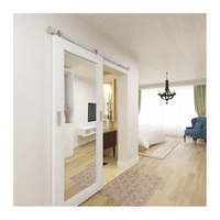 Hotel Bathroom Mirrored Barn Door with Sliding Door Hardware