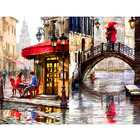 New Design Street Corner DIY Painting By Numbers Handpainted Canvas Painting Home Wall Art Picture For Living Room