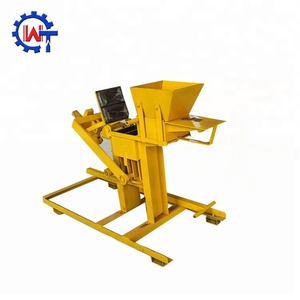 interlocking clay press brick and block making machine wt2-40