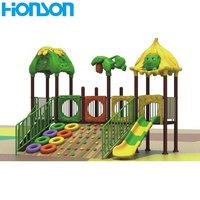 Outdoor Plastic Tire Rock Climbing Wall Playground With Slide.