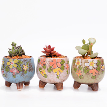 APHACATOP Fashion Design Ceramic Succulent Planter Pot