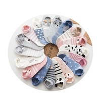 Factory Outlet Cute Animal Cotton Socks Female Kawaii Animal Summer Short Socks Slippers Women Casual Soft Funny Boat Socks