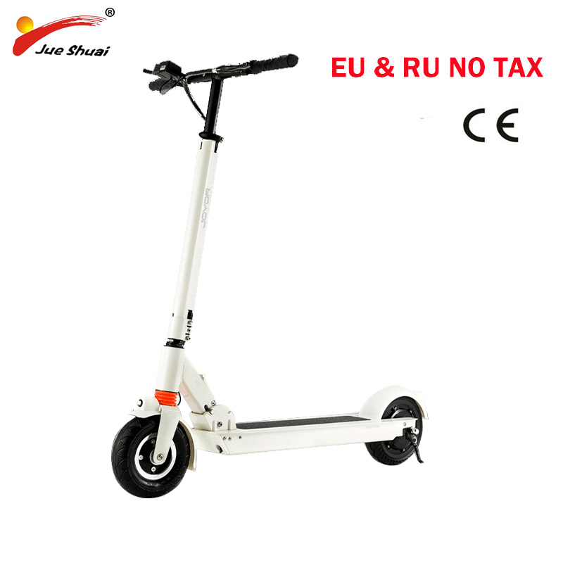 off road 2 wheels powerful foldable electric scooter adult with 250W24v 8ah lithium battery fat tire, Black white