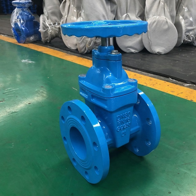 GGG50 DIN 3352 F4 ductile iron gate valve with prices soft seal cast iron sluice gate valve