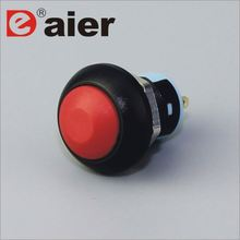12mm dome remote control black push button switch latch