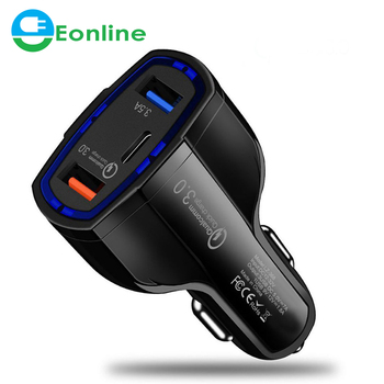 EONLINE 3 Ports Usb Car Charger 7A Fast Charging for Qualcomm QC3.0 Technology for Samsung for Xiaomi for iPhone 7 8