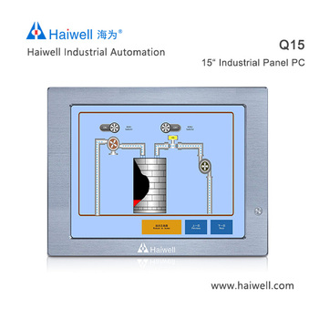 New Haiwell 15 inch Q15 industrial computer  Linux system supported industrial tablet pc China brand