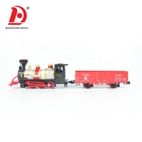 HUADA 2019 Children Gift Electric Railtrain Mini Toy Train Sets with Light & Music for Kids