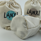 custom printed logo recycled canvas pouch cotton bag