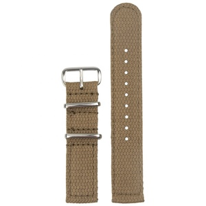 2 Piece Of Cotton Watch Strap in 18mm/20mm/22mm With Good Quality Stitching From Factory