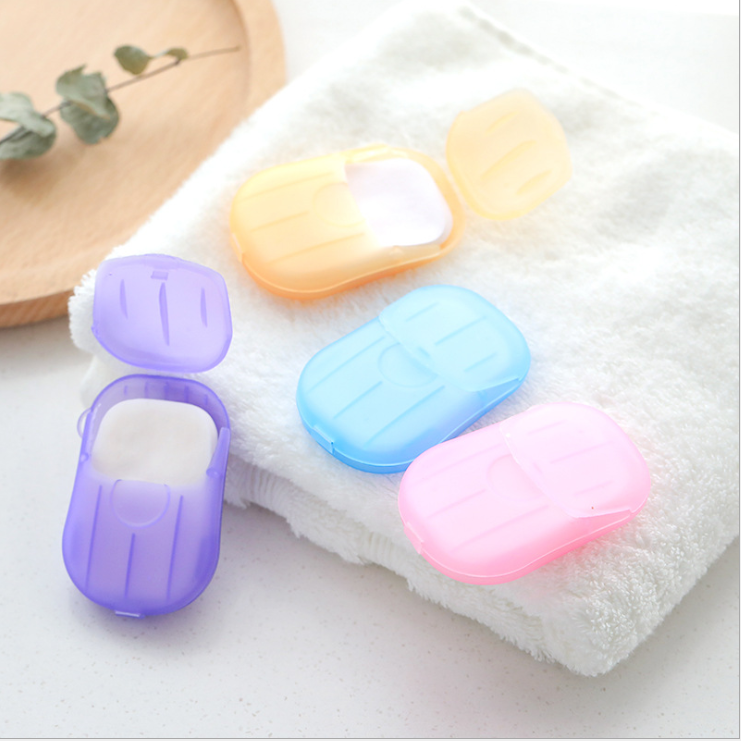 travel disposable Soap slice portable Mini soap paper customized LOGO A large number of inventory