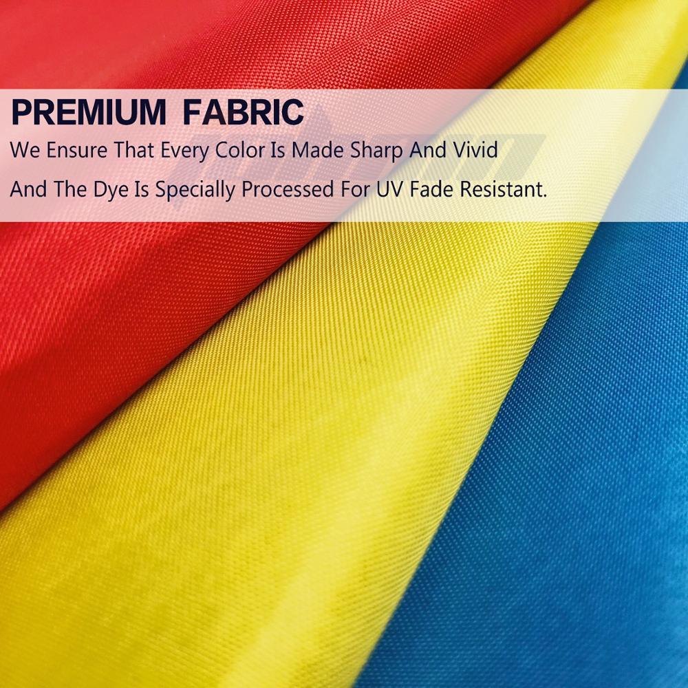 Wholesale Stock Flying 3x5ft Polyester Big Rainbow Lesbian LGBT Gay Pride Flag
