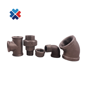 black malleable cast iron pipe fittings elbow union tee end cap black mi 340 conical pipe fittings union connector
