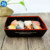 Custom recycled disposable folding cardboard boat shaped food container paper meal tray