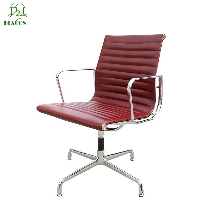 2019 Comfortable For Office Rotating Boss Chair Swivel No Wheels Ergonomic Red Chairs Ergonmic Aluminum