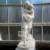 Custom garden decorative white stone marble lady man child statue