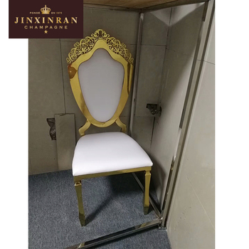 golden wedding stainless steel hotel chairs latest design hotel cheap gold royal throne chairs