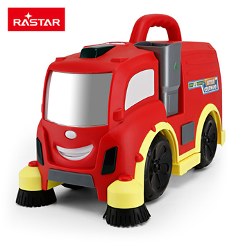 RASTAR kids plastic rc toy electric smart clean sweeper truck