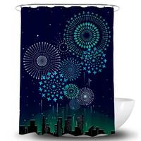 Dark Color Stocked Polyester Fabric Decoration Bath Curtain african american double swag shower curtain