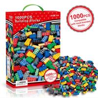 Education toy for Kids 1000PCS Creative Bricks Colorful Building Blocks ABS Non-toxic Plastic Children Gift Building Block Floor