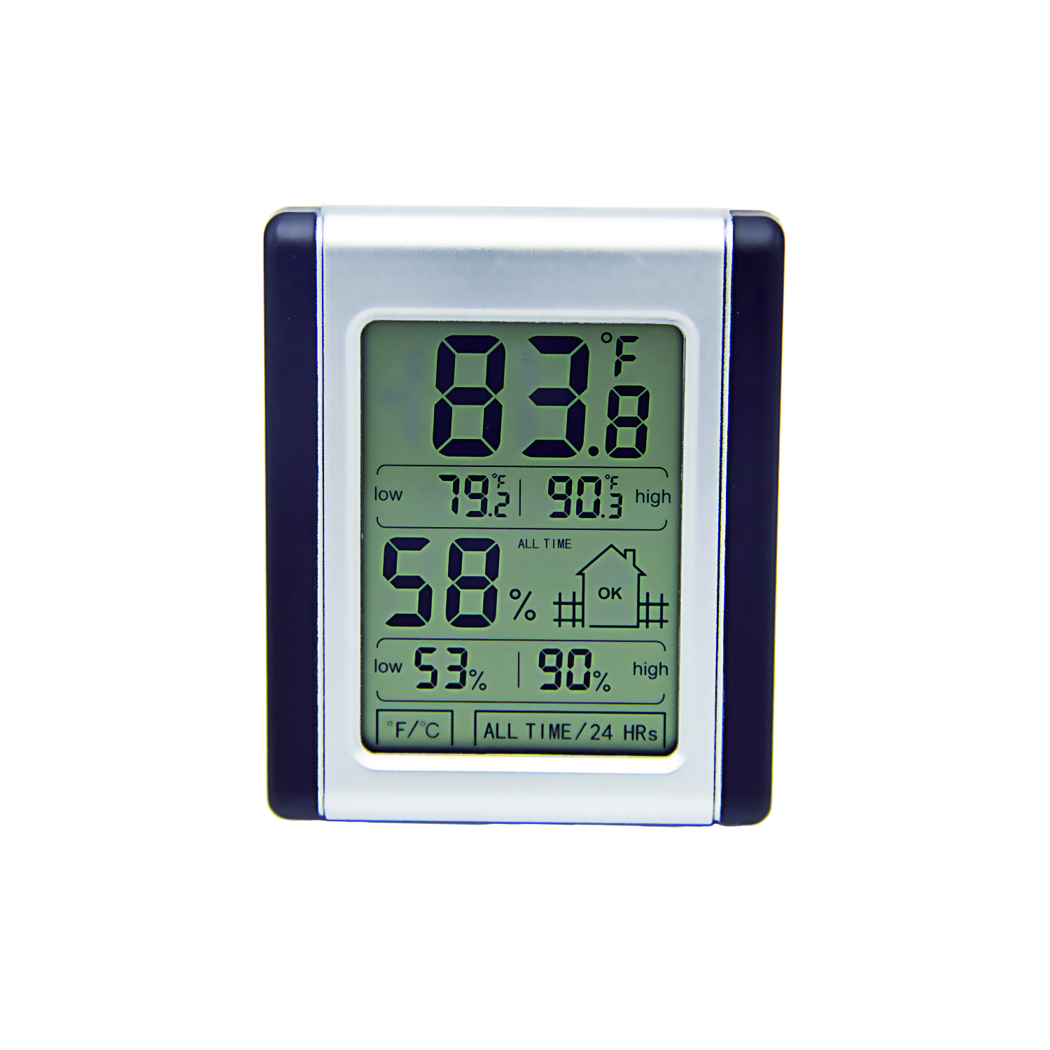 Clever Design Digital Lcd Display Touchscreen Thermometer Hygrometer with Max Min Record Function