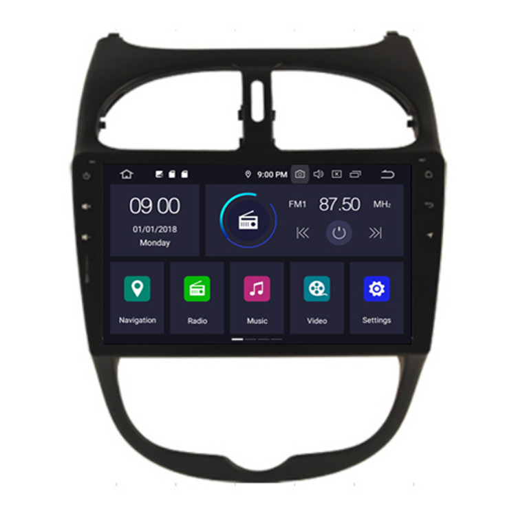 "HIFIMAX 9"" Android 9.0 car dvd player for Peugeot 206 multimedia GPS for peugeot 206 radio with WIFI Mirror Phone Link"