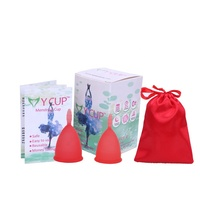 100% Silicone Menstrual Cup-Violet-2 size for Normal to heavy Menstruation Menstrual Cup with new custom box design