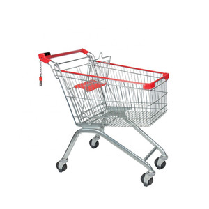 Folding Supermarket Trolley Cart With Competitive Price YD-B-125L