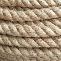High Quality 12mm 3 Strands Twisted Natural Sisal Cord Jute Rope For Garden Fence