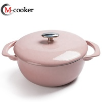 Cast iron casserole soup stock stew cooking pots